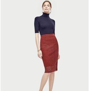 Ann Taylor Tulip Lace Pencil Skirt Size 12